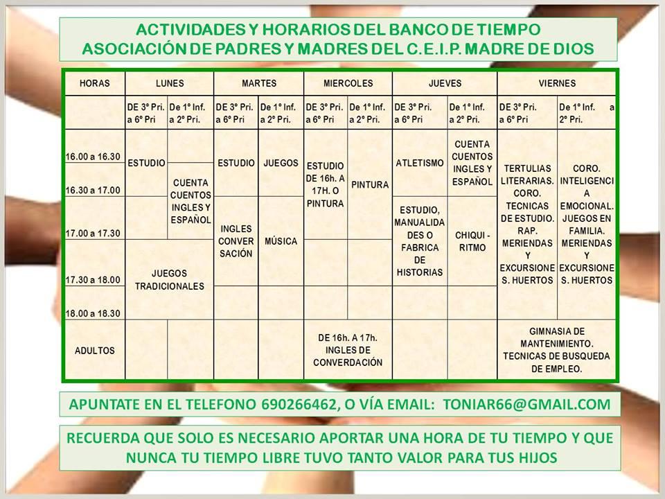 Colegio p blico madre de dios for Horario bancos madrid
